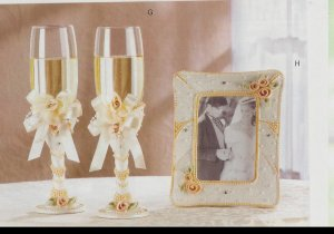 Ceremonial Wedding Glasses & matching frame