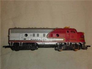 HO Tyco Santa Fe Diesel Locomotive Model Railroad