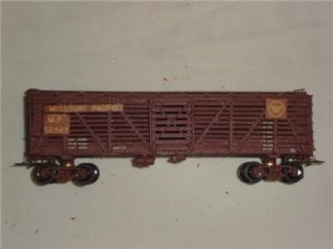 HO Train Wooden Missouri Pacific Cattle Car Model Railroad