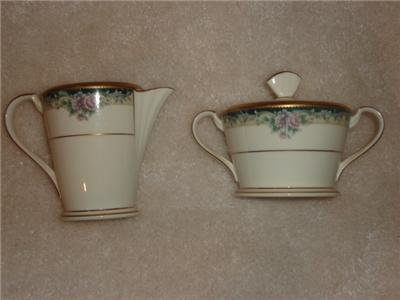 NORITAKE Mi Amor Sugar & Creamer 4717 Fine China Japan