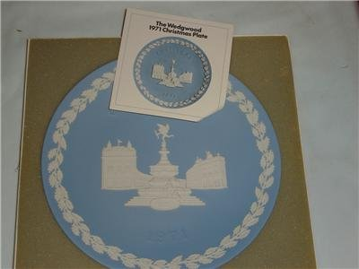 Wedgwood Jasper Christmas Plate 1971 Picadilly Circus