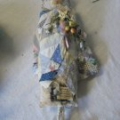 ORIGINALS FOLK ART DOLL ....SADIE SWATHED in VINTAGE