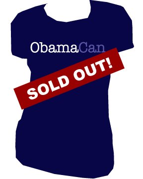 Obama Can | ladies | SM - L (please indicate size during checkout)