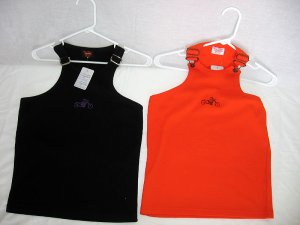 Choppers For Chics Tank Top Orange And Black