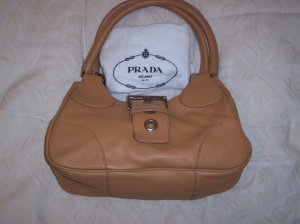 Prada handbag BR0826 Beige 100% Authentic NWT & dustbag