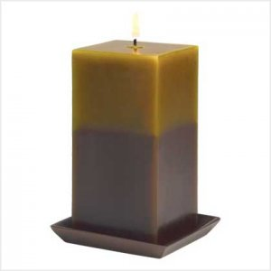EARTH TONE PILLAR CANDLE