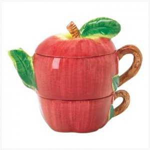 NEW! APPLE TEA-FOR-ONE POT-ITEM #38210-BUY 1, GET 1 FREE