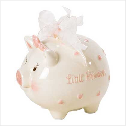 NEW! MUDPIE(TM) LITTLE PRINCESS PIGGY BANK-ITEM #38889-BUY 1, GET 1 FREE
