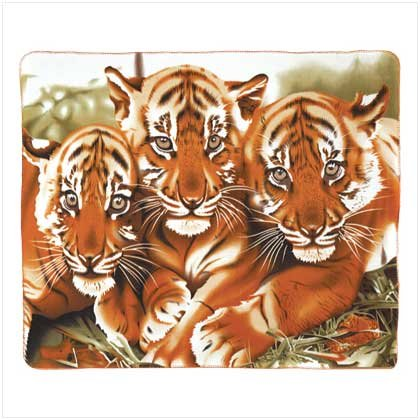 NEW! WILDLIFE TIGERS FLEECE BLANKET-ITEM #39344-BUY 1, GET 1 FREE