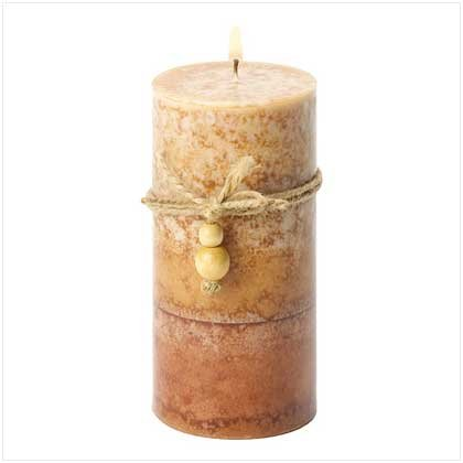 RUSTIC WOOD CLASSIC PILLAR CANDLE-ITEM #39246-BUY 1, GET 1 FREE