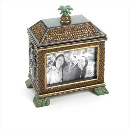 ISLAND HUT PHOTO FRAME BOX-ITEM #36008
