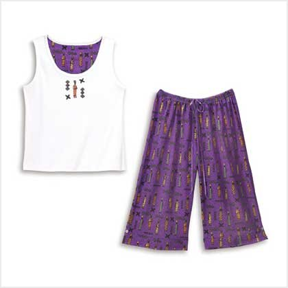 TRIBAL PRINT PAJAMA SET-SIZES SMALL-EXTRA LARGE