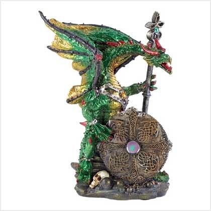 NEW! ARMORED DRAGON STATUE-ITEM #39358
