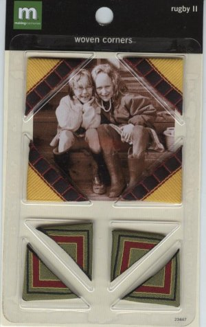 Making Memories Rugby II Woven Photo Corners