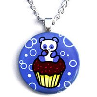 Blue Pandacake Necklace