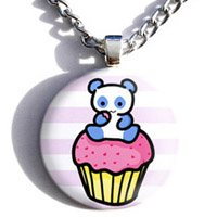 Pink Pandacake Necklace