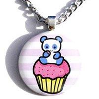 Pink Pandacake Necklace
