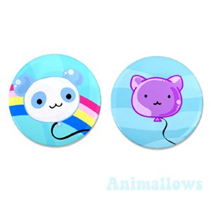 Animal Balloon Magnets Set of 2