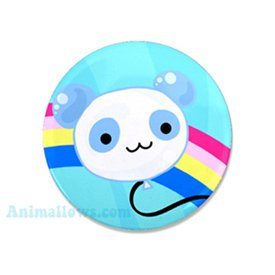 Panda Balloon Mini Button