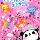 San-X Animal Land Concert Memo Pad with Stickers