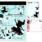 "Crux Alice in Wonderland ""Magic Wonder Girl"" Small Memo Pad"