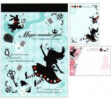 """Crux Alice in Wonderland """"Magic Wonder Girl"""" Small Memo Pad"""