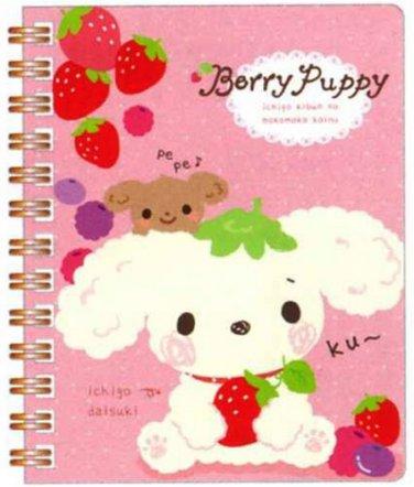 San-X Berry Puppy Pocket Spiral Notebook