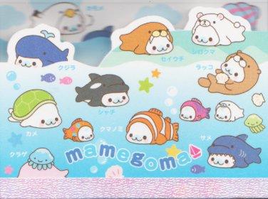 "San-X Mamegoma Marine Little Seals ""Ocean"" Small Memo Pad"