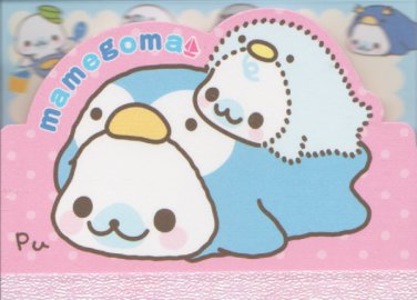 "San-X Mamegoma Marine Little Seals ""Penguin"" Small Memo Pad"