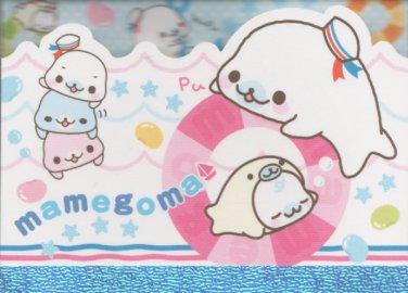 "San-X Mamegoma Marine Little Seals ""Sailor"" Small Memo Pad"