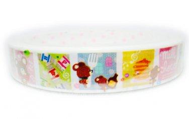 Q-Lia Milk Choco Bear Deco Tape