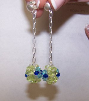 fancy zircon earrings - aretes de circon fantasia