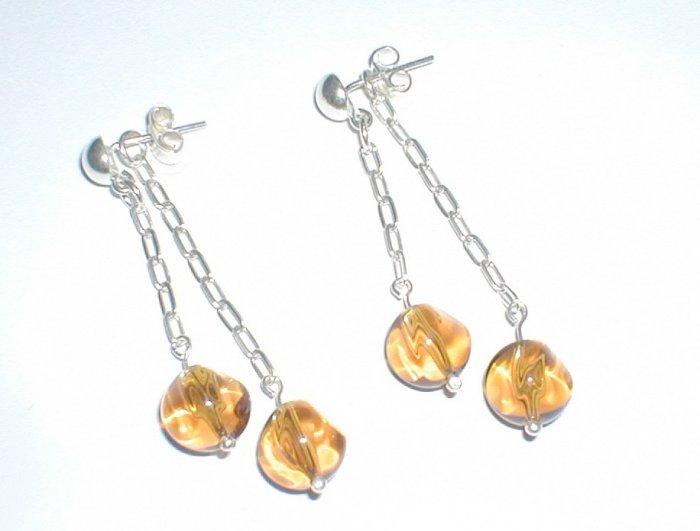 gold-murano earrings -- aretes murano oro