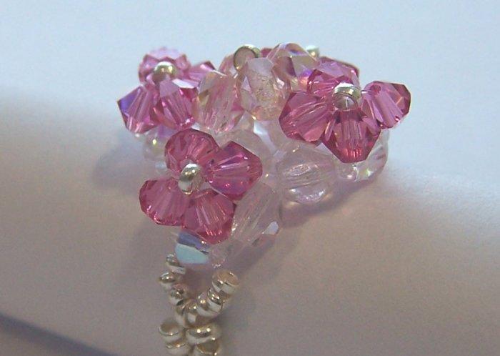 swarovski crystal ring - anillo de cristal swarovski