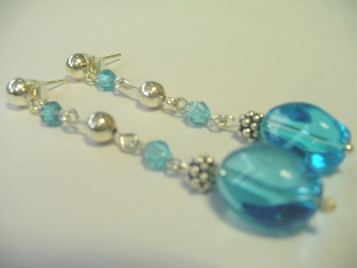 murano and czech crystal earrings - aretes de murano y cristal checo