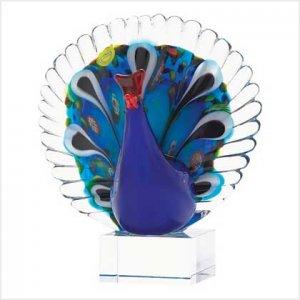 NEW! ART-GLASS PEACOCK