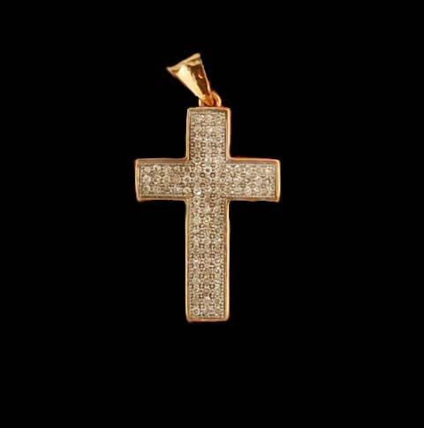 Diamond Cross Pendant with Chain