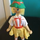 Vintage 1950s 1960s Gromada Polish peg wooden doll 7 inches #23