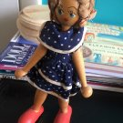 Vintage 1950s 1960s Gromada Polish peg wooden doll 7 inches #01