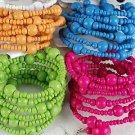 Bracelet & Earring Sets Bunch Beads Flexable Color Asst/DZ 6 Color Asst