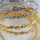 2pcs Bangles Cast 3'' Wide/DZ choose Gold Or Silver