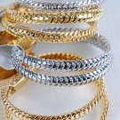 2pcs Bangles Cast 3'' Wide/DZ Choose Gold Or Silver Finish