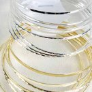 9pcs Bangles Asst Patterns 3in Wide-DZ Choose Gold Or Silver Finish