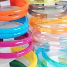 2pcs Bangles Transparent Acrylic 3'' Wide/DZ 7 Color Asst,Transparent Colors