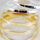 3pcs Bangles Metal, 3'' Wide/DZ 3'' Wide,Choose Gold Or Silver Finish