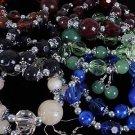 Bracelet & Earring Set Lucite W Beads/DZ 6 Color Asst,Stretch