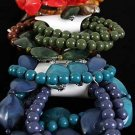 Bracelet & Earring Sets Acrylic Marble W Beads/DZ **NEW** Winter Collection Color Asst