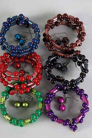 Bracelet & Earring Sets Flexable Color Asst/DZ **NEW** Winter Sellection,Color Asst