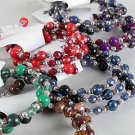 Bracelet & Earring Sets Flexable Lucite Bead W Cc Beads/DZ **NEW** 6 Color Asst,Flexable