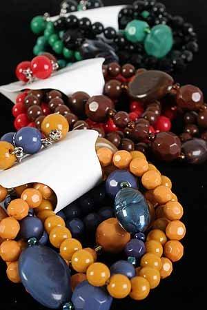Bracelet & earring Sets Lucite Bead W Large Marble Blocks/DZ **NEW** 6 Winter Color Asst,Stretch